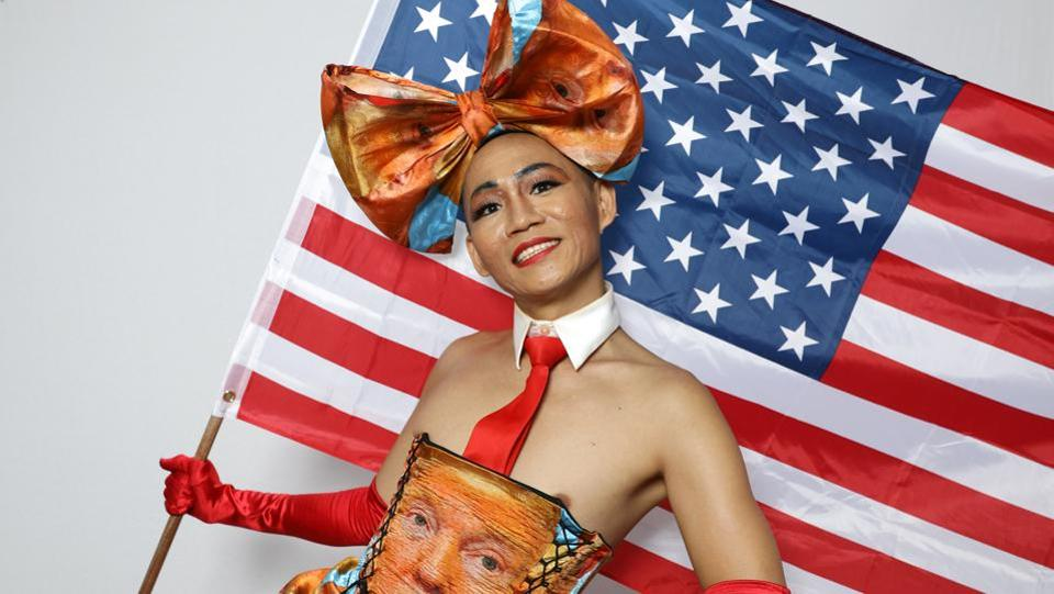 Khuong Lam, 35, poses for a portrait  in California, United States. Thousands of people sporting rainbow attire, hats and home-made protest signs took part on Sunday in a resist march against U.S president Donald Trump,an event that took the place of the city's annual pride parade. Despite the sharper focus on political issues, the event remained at its core a celebration of lesbian, gay, bisexual and transgender identity.Trump has antagonized many minorities since taking office in January. A RealClearPolitics average of opinion polls shows his approval rating is currently only 39 percent. Two American photographers made portraits of some of the activists that took part in the protest and asked what each of them would say if given 30 seconds to sit down with Trump.  (REUTERS)