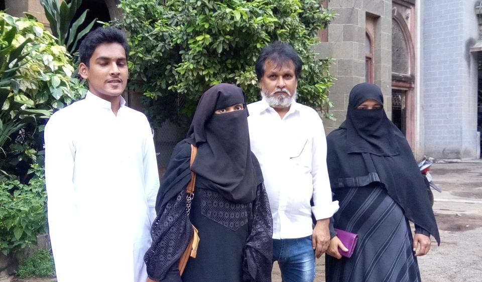Masoom Siddiqui with his sister and parents.