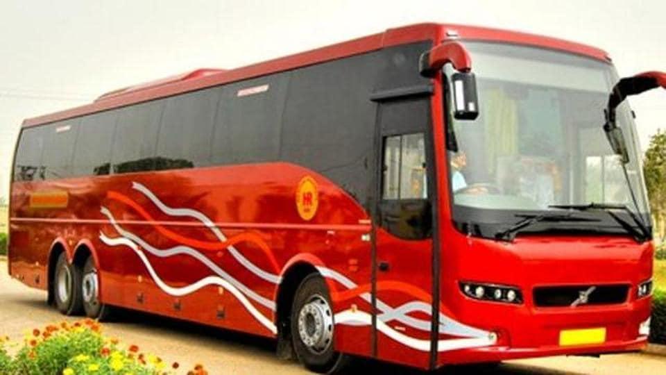 Haryana Roadways bus,strike,Volvo