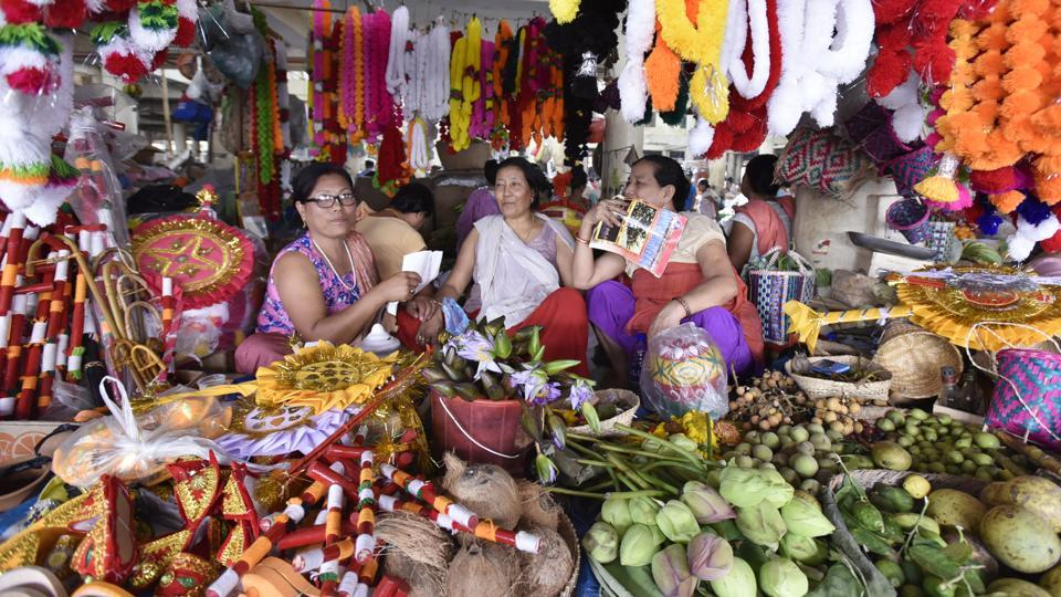 Also known locally as Khwairamband Bazaar this market is also a recreational and meeting point for the discussion of social and economic issues among women. (Raj K Raj/HT PHOTO)