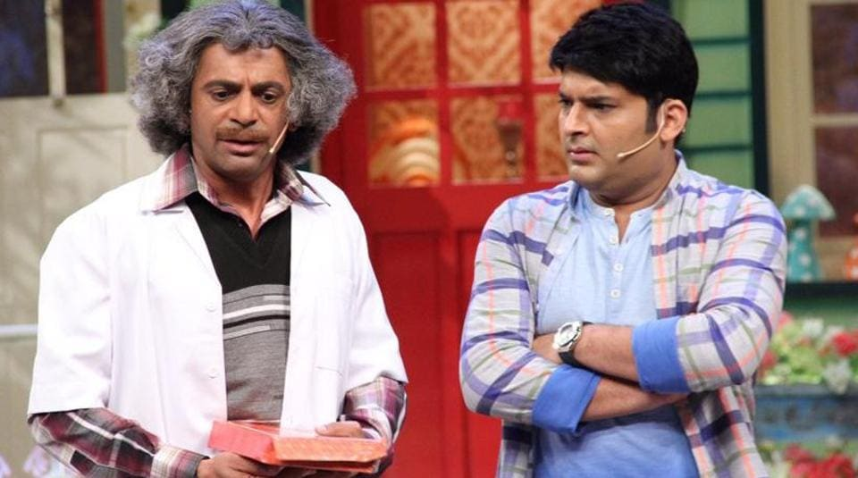 Sunil and Kapil in a still from The Kapil Sharma Show.