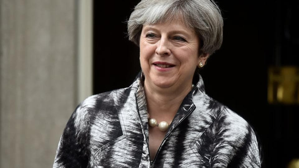 Britain's Prime Minister Theresa May suffered a shock drop in popularity in the just-held snap elections.
