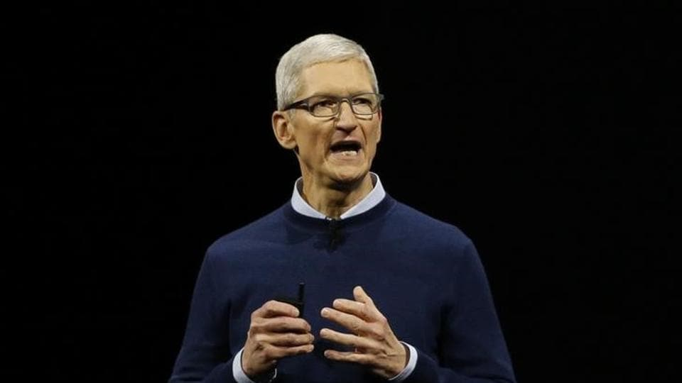 Tim Cook, CEO, speaks during Apple's annual world wide developer conference in San Jose, California, US June 5, 2017.