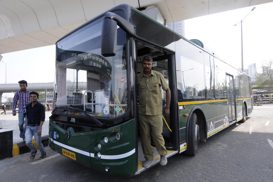 Noida,city bus,conductors strike