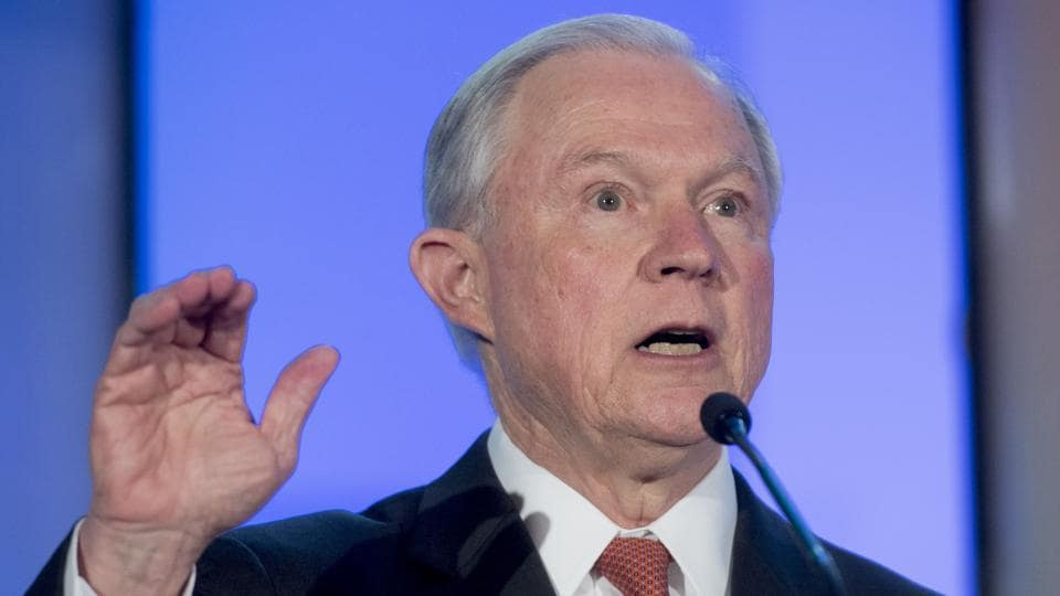 US attorney general Jeff Sessions.