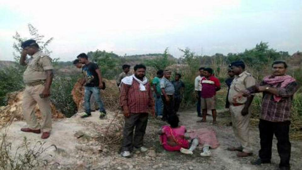 Accident site where three persons buried alive after clay rock subsided at Bastacola colliery area, Jharia in Dhanbad