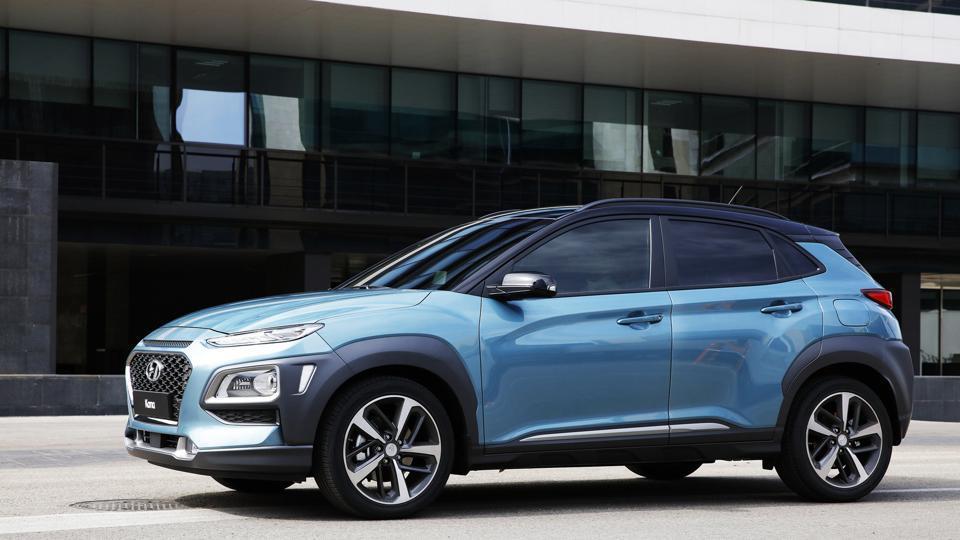 Hyundai Kona unveiled its new compact SUVKona in Korea on Monday.