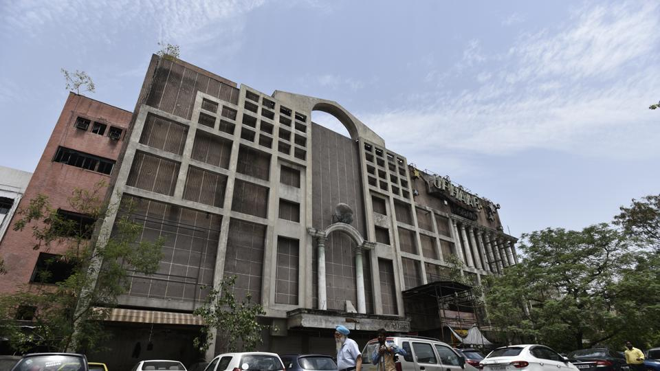 An outside  view of the Uphaar cinema hall located near Green Park area in New Delhi.  (Burhaan Kinu/HT PHOTO)