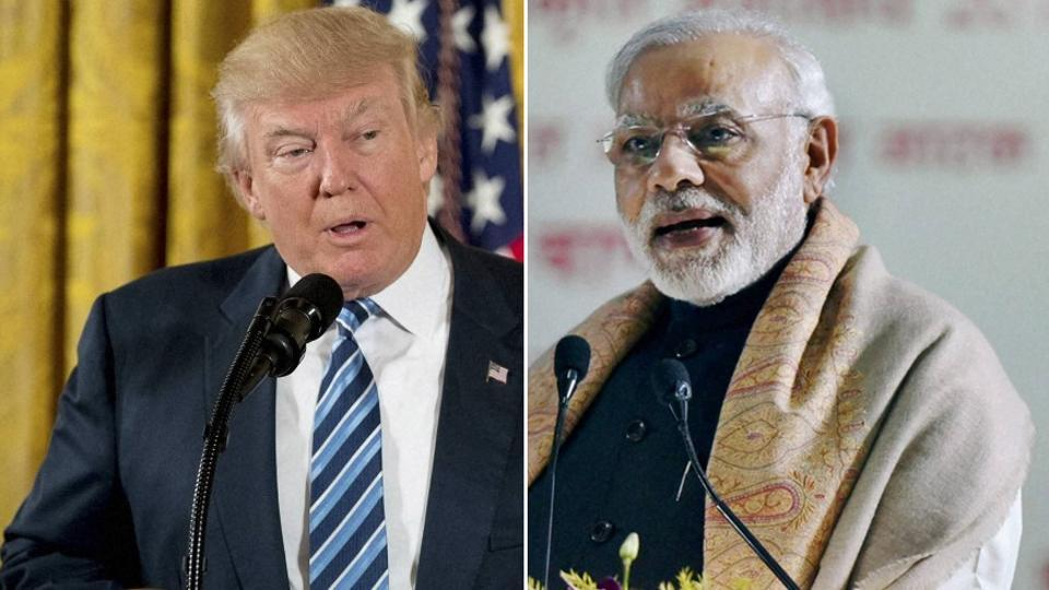 Acombination of photos of USPresident Donald Trump and Indian Prime Minister Narendra Modi.