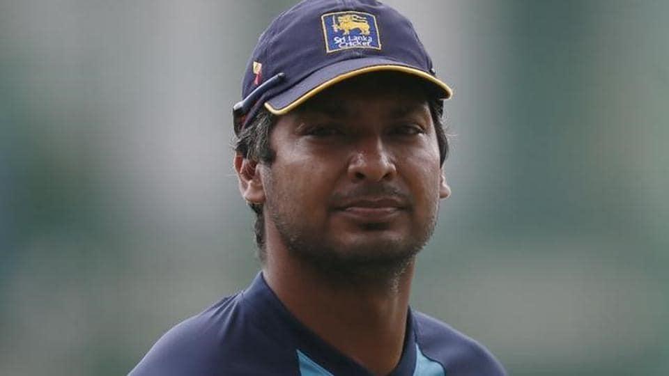 Sri Lanka's Kumar Sangakkara slammed a brilliant century for Surrey against Yorkshire.