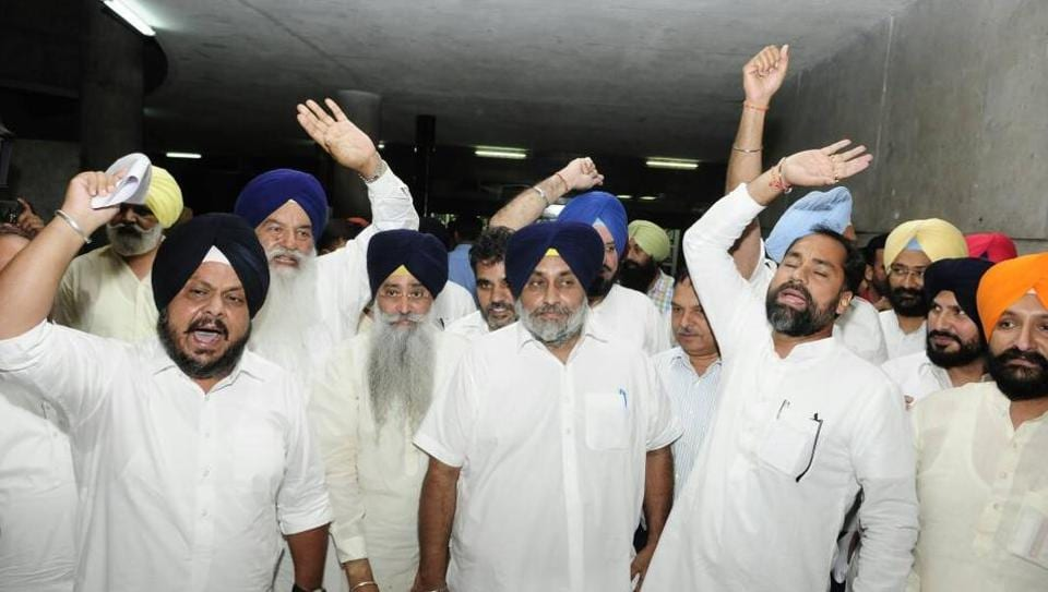 Second day of assembly session: Akali dal stages walk out