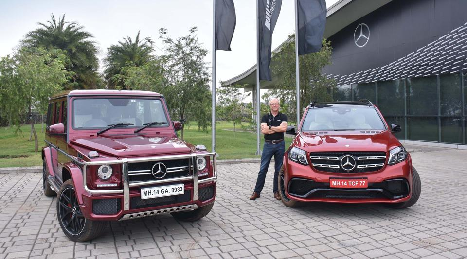 Roland Folger, MD & CEO, Mercedes-Benz India with Mercedes-AMG GLS 63 and Mercedes-AMG G 63 'Edition 463'.