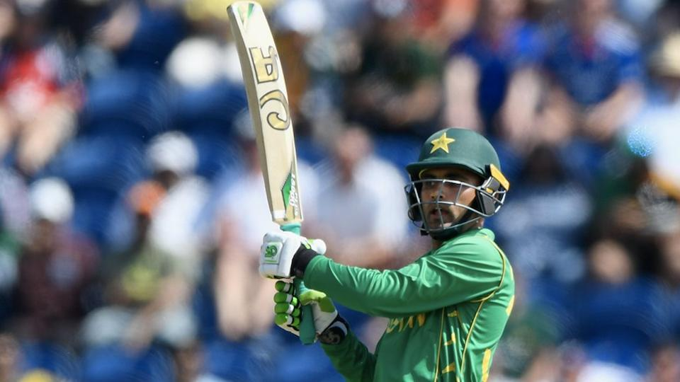 In reply, Azhar Ali and Fakhar Zaman (in pic) all but ended England's slim hopes of victory with an opening stand of 118. (Twitter )