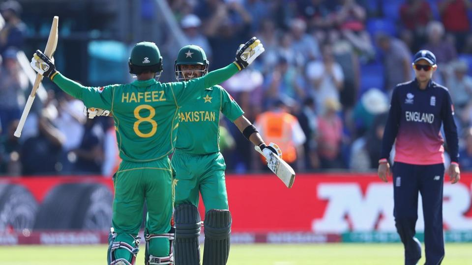 Pakistan sealed their place in the ICC Champions Trophy final with a crushing eight-wicket win over England at Cardiff on Wednesday. (Twitter )