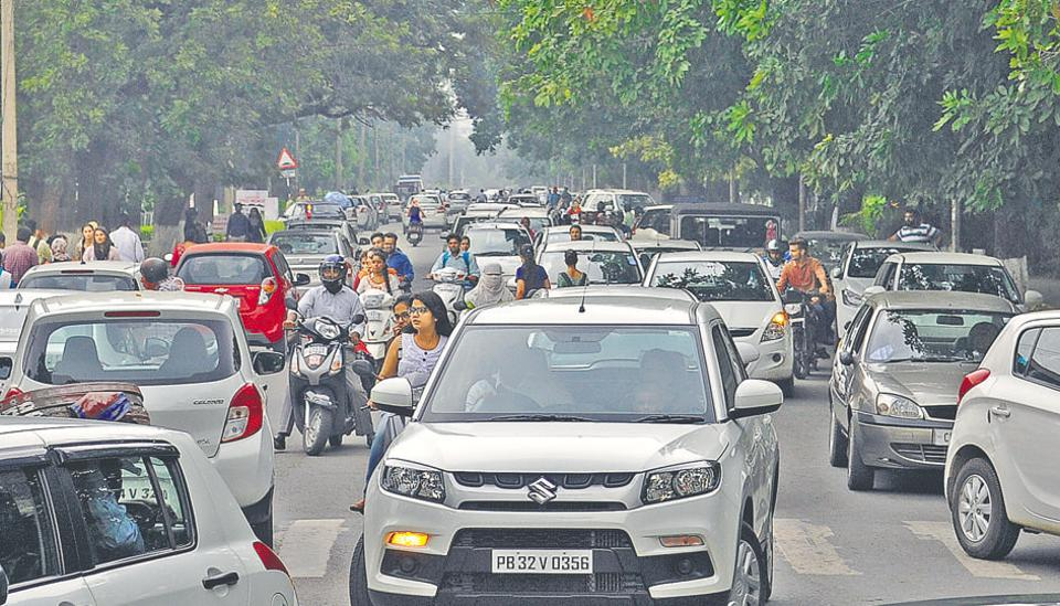 Panjab University has taken a slew of measures in the past years, but has not been able to deal with the traffic problem.
