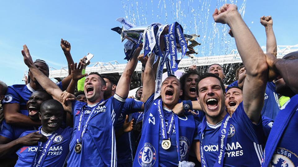 Chelsea had lifted the 2016/17 Premier League title in May.