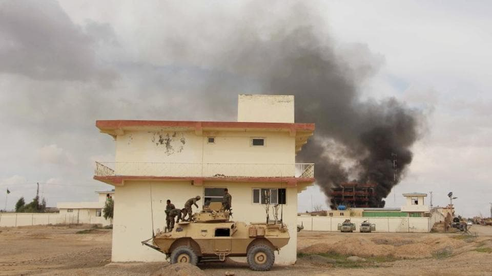 A suicide bomber targeted a checkpoint run by rival insurgents in the southern Helmand province.