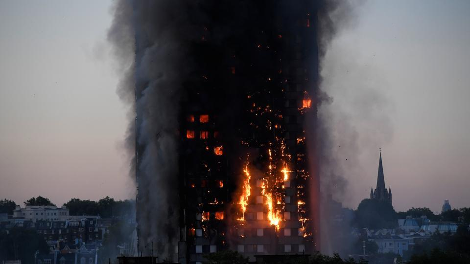 london,fire,27 storey