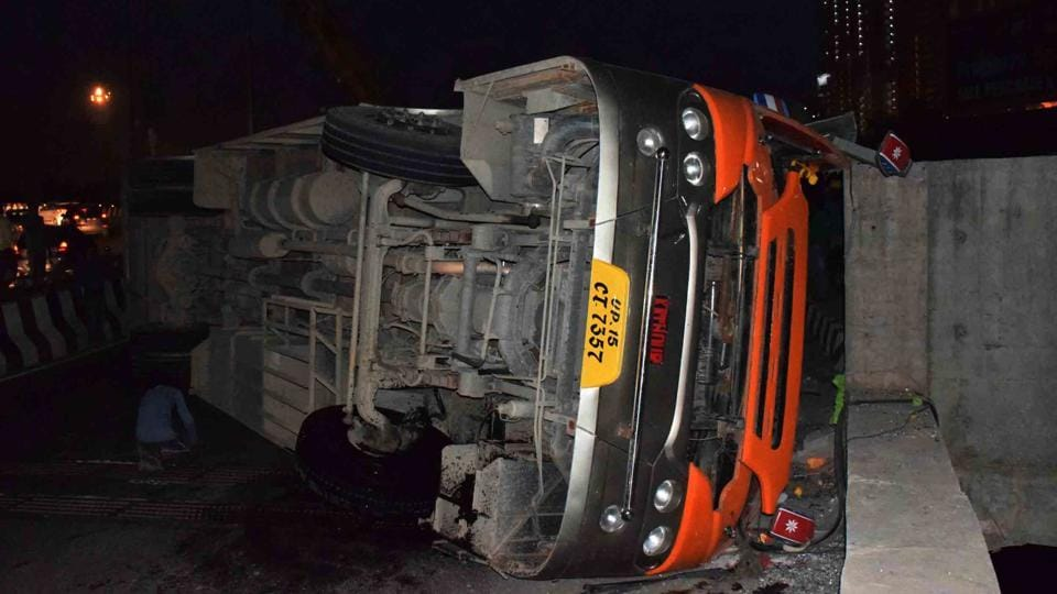 Passengers alleged that the bus driver was drunk and was driving at a high speed.