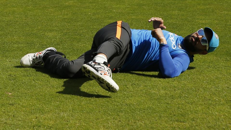 Yuvraj Singh during a practice session ahead of India vs Bangladesh ICC Champions Trophy 2017 clash.