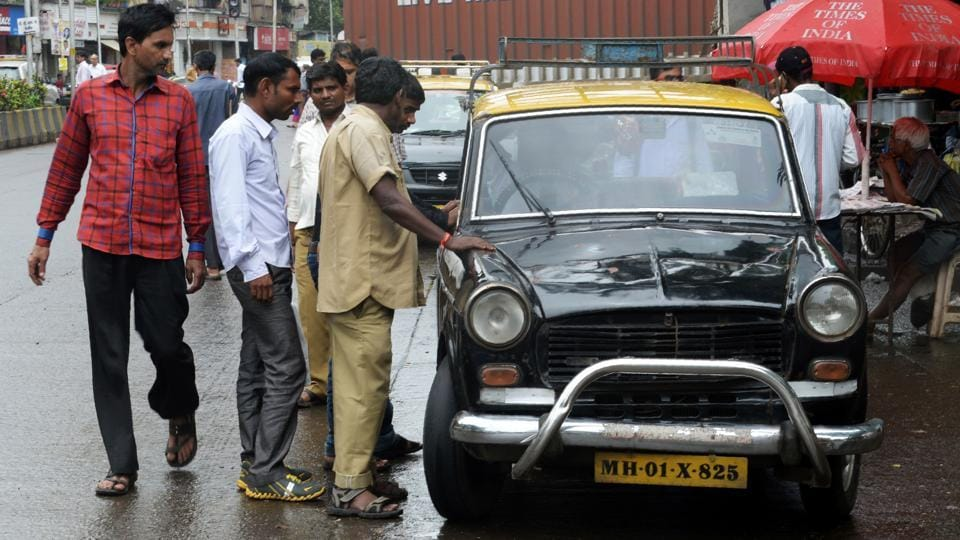 A taxi union chief in Mumbai says,'It really is an iconic car because for so long it was the only vehicle used by taxi operators here. It must have been the largest fleet in the world.' (INDRANIL MUKHERJEE  / AFP)