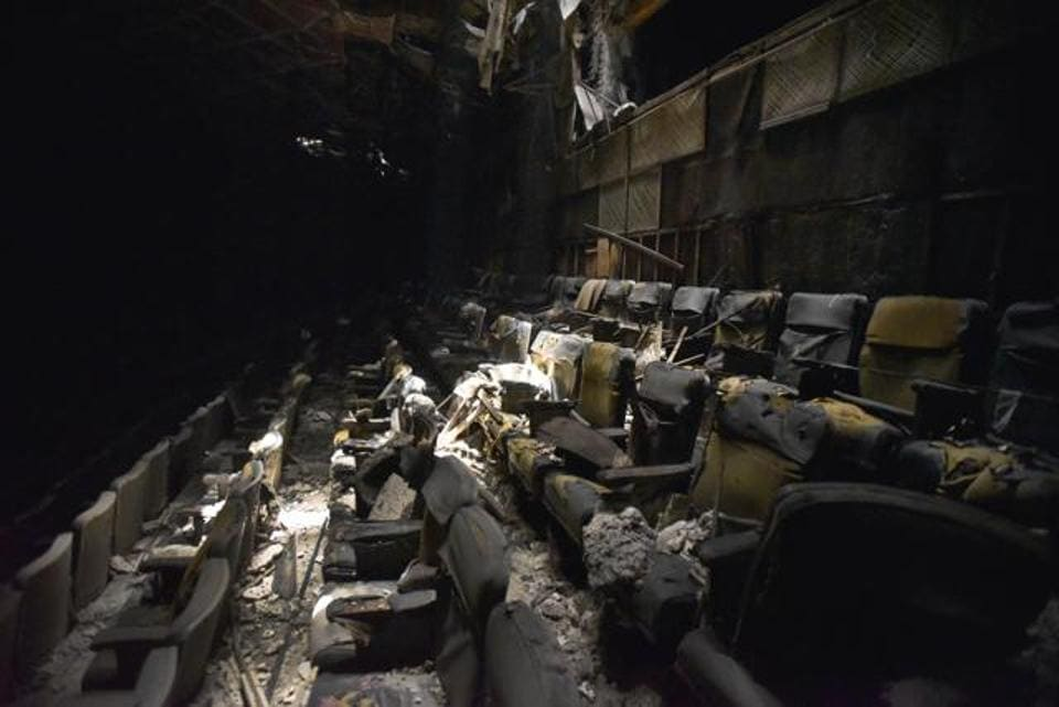 Dilapidated seats inside Uphaar Cinema hall in south Delhi's Green Park. The building remained sealed for 20 years.