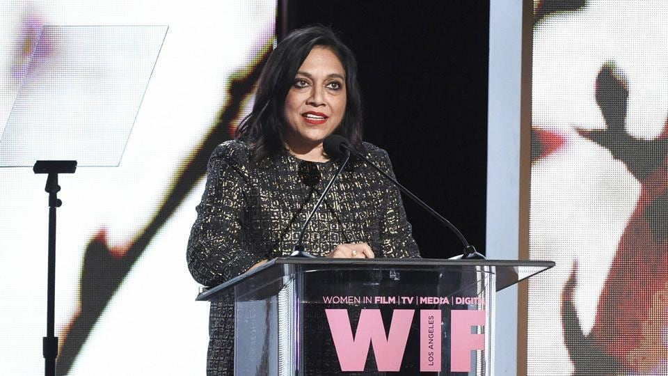 Mira Nair attends the Women In Film 2017 Crystal and Lucy Awards at the Beverly Hilton Hotel.