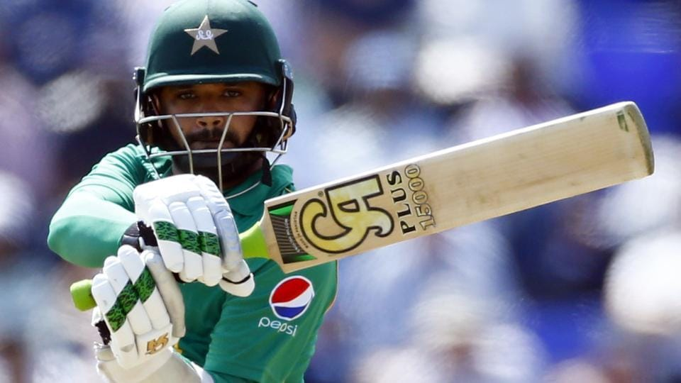 Pakistan's Azhar Ali hits a boundary against England in the ICCChampions Trophy. Catch full cricket score of England vs Pakistan here.