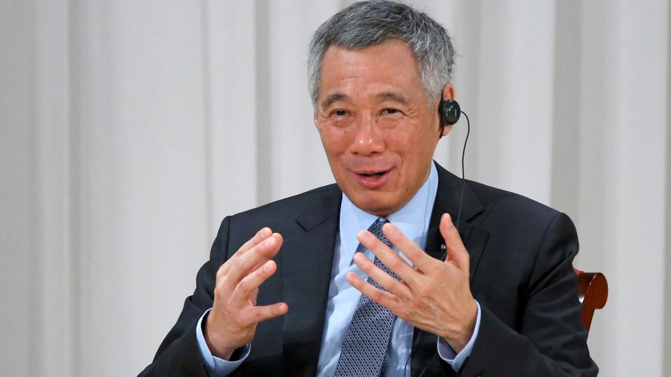 Singapore Prime Minister Lee Hsien Loong speaks at the International Conference on The Future of Asia in Tokyo, Japan, September 29, 2016.