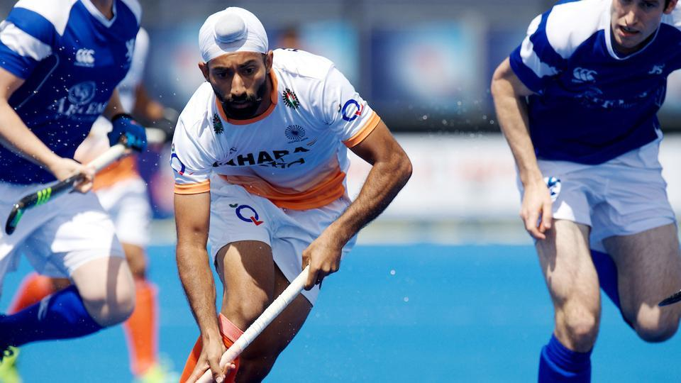 India began their campaign at the Hockey WorldLeague Semi-Finals with a 4-1 win over Scotland.