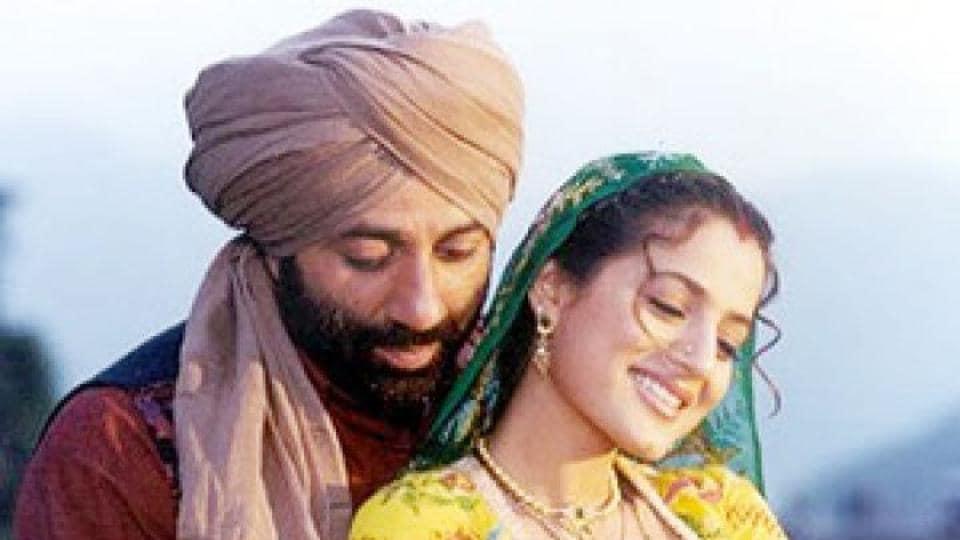 Actors Sunny Deol and Ameesha Patel in a still from the 2001 film Gadar:Ek Prem Katha.