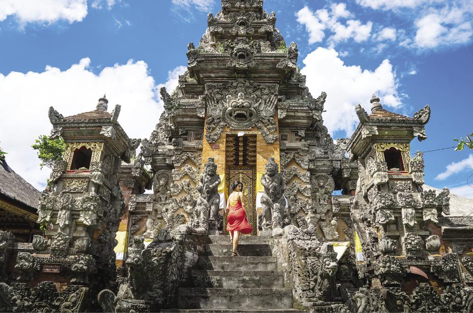 Spend time in one of Ubud's many stunning temples