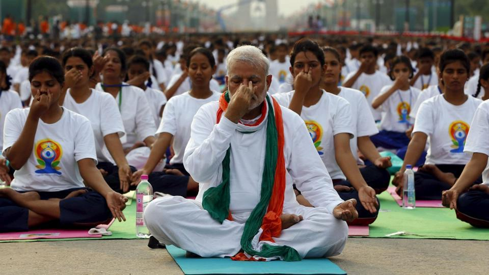 Narendra Modi,Yoga,International Yoga Day