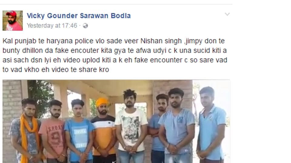 On his Facebook page, Gounder has shared a video in which eight youths are seen standing in a line with two of them trashing the police theory.