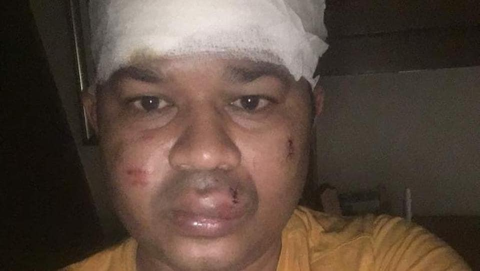 Gyanendra Jena, the 39-year-old businessman who was robbed of his car.