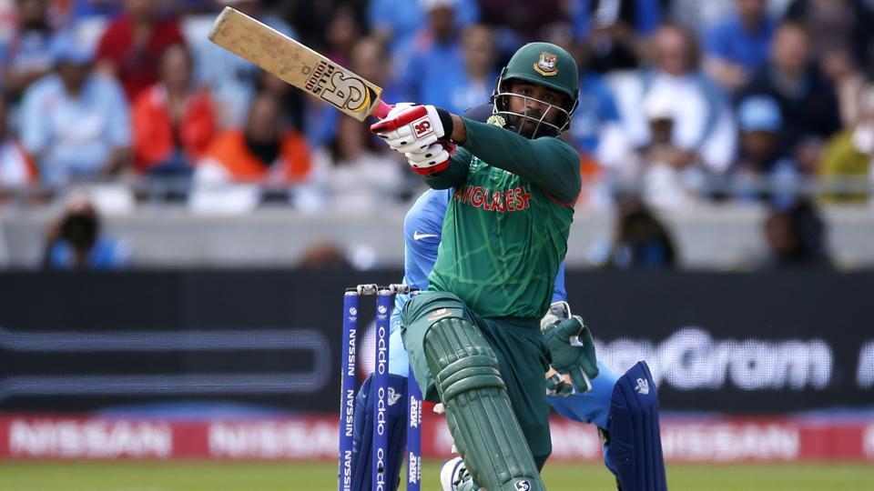 Tamim Iqbal scored 70 off 82 in the ICC Champions Trophy semi-final between India and Bangladesh at Edgbaston, Birmingham.