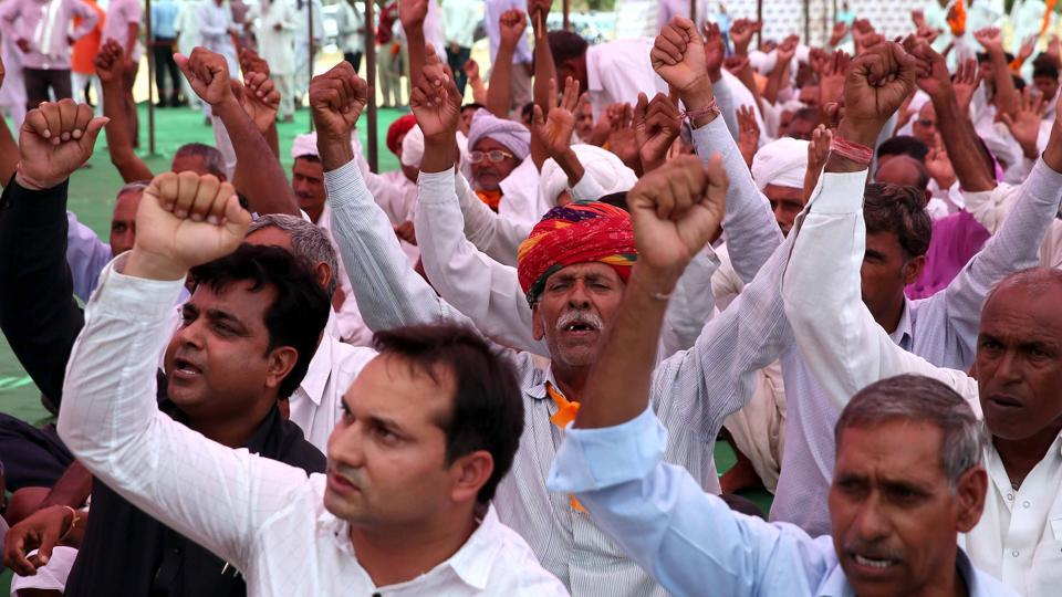 Rajasthan farmers,Rajasthan farmers protest,Rajasthan protests