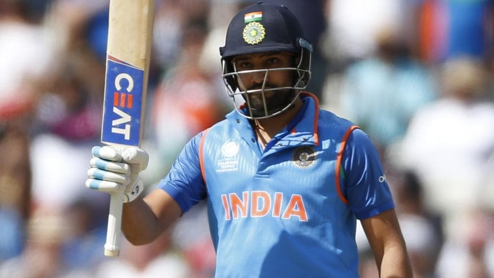 India's Rohit Sharma in action against Bangladesh in the ICCChampions Trophy. Catch full cricket score of India vs Bangladesh semi-final here.