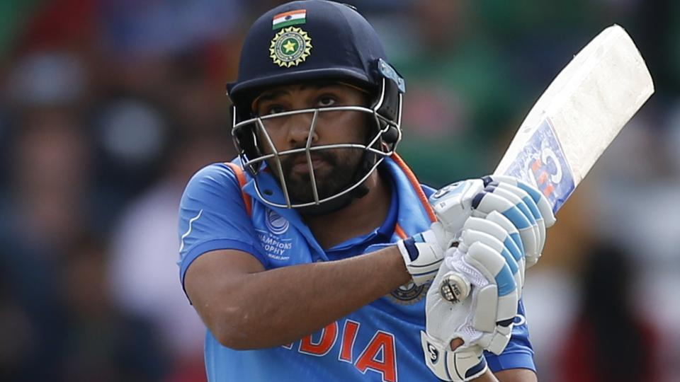 India's Rohit Sharma in action against Bangladesh during their ICC Champions Trophy encounter.