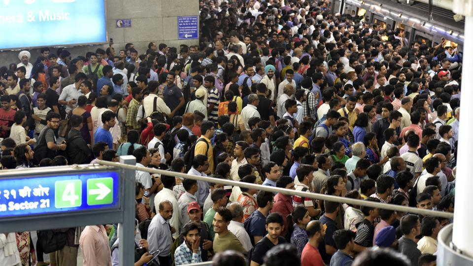 Massive rush at Rajiv Chowk Metro station on Tuesday after a bird hit paralysed services on Blue Line for over three hours. The Blue Line is DMRC's busiest and one of the longest lines. It is also the most snag-prone.