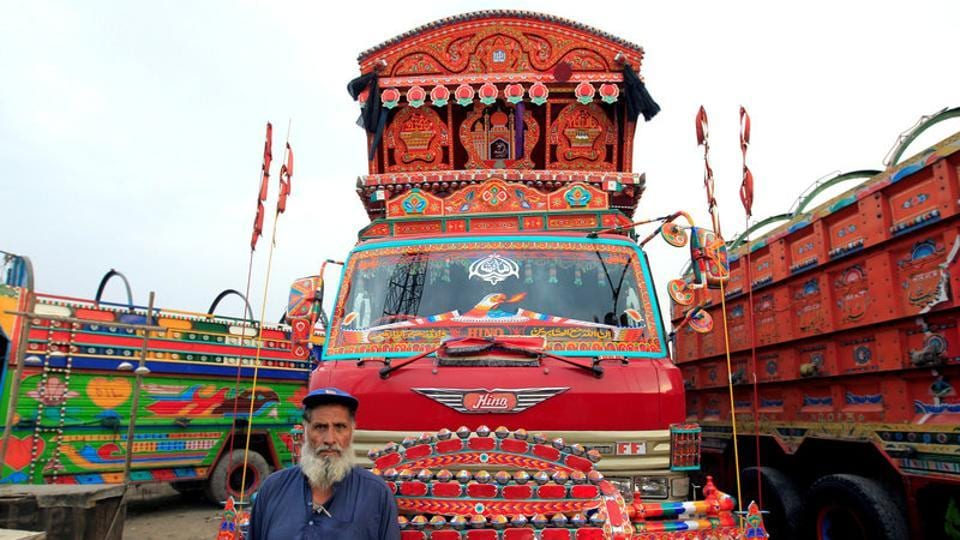 Although the rickety trucks pollute the roads and chug along at a snail's pace, but to their Pakistani owners they are moving pieces of art, commanding attention with portraits of flowers, Islamic art, and snow-capped Himalayan peaks.South Asian 'truck art' has become a global phenomenon, inspiring gallery exhibitions abroad and prompting stores in London neighbourhoods to sell flamboyant miniature pieces. (Caren Firouz/REUTERS)