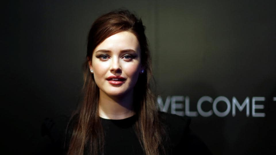 Katherine Langford poses at a screening for the television series 13 Reasons Why in Beverly Hills, California.