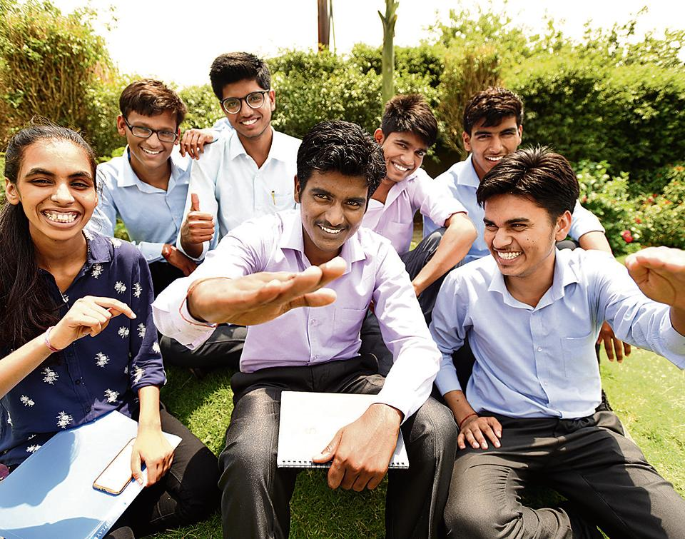 The seven students, from humble backgrounds, cleared the entrance test for admission to top US universities.