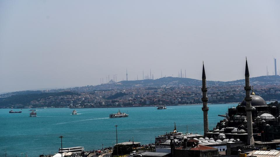 Bosphorus Strait turns bright blue due to plankton superbloom