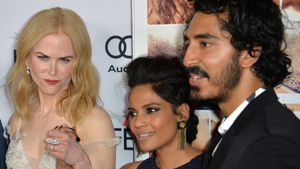 Actors Nicole Kidman, Priyanka Bose & Dev Patel & author Saroo Brierley at premiere of Lion.
