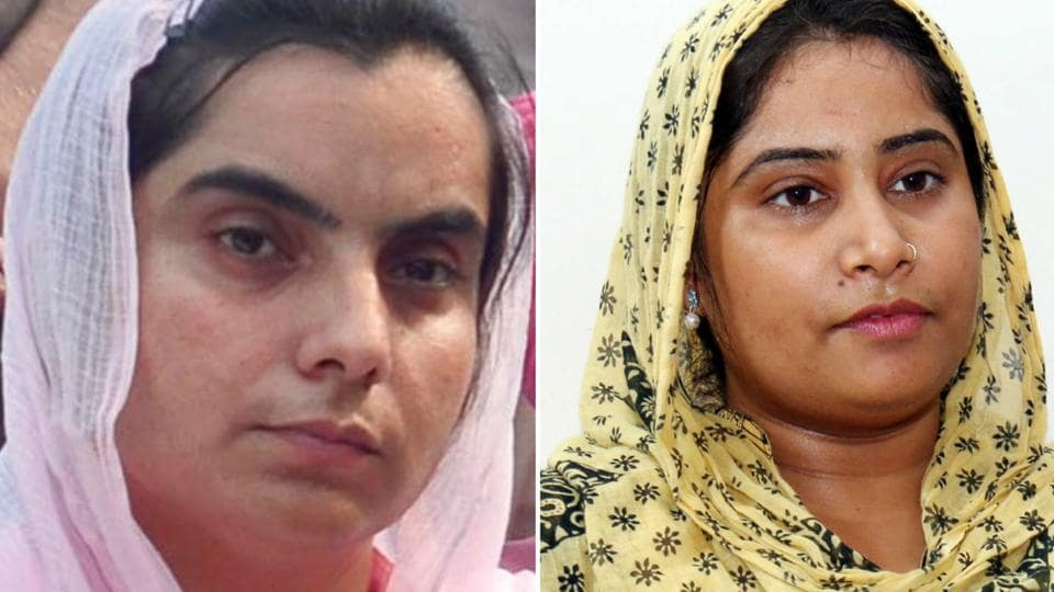(From left) AAP leaders Baljinder Kaur (Talwandi Sabo) and Rupinder Kaur Ruby (Bathinda rural)
