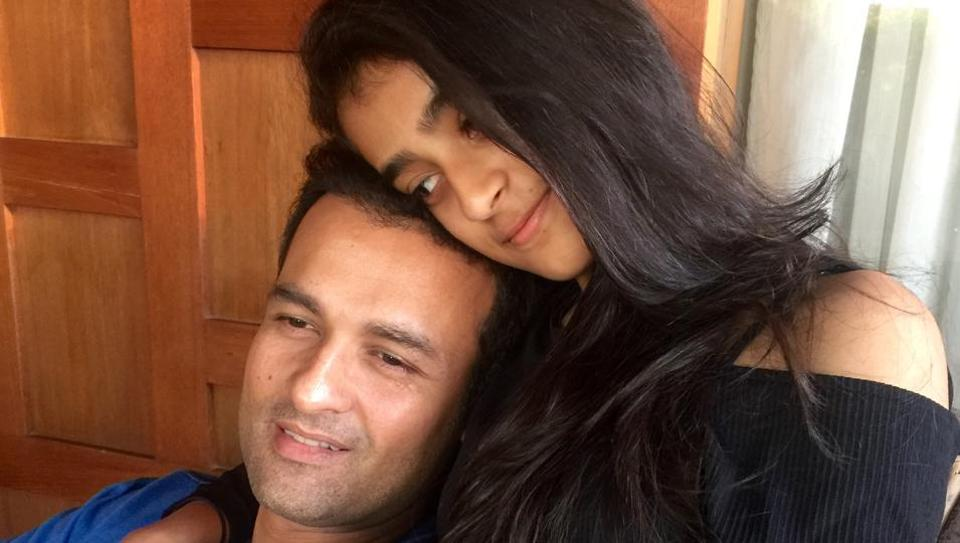 Actor Rohit Roy with his 14-year-old daughter, Kiara Bose Roy