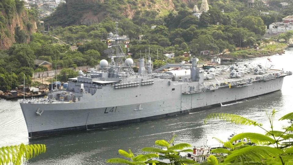 As of now, the US-built INS Jalashwa is India's sole landing platform dock.