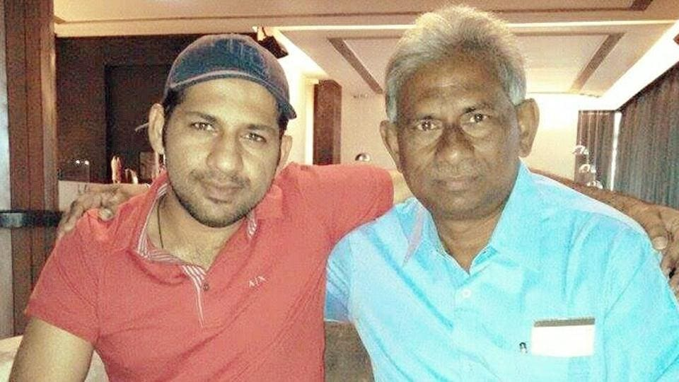 Sarfraz Ahmed with his uncle Mehboob Hasan - who feels India will easily defeat Pakistan to win the ICC Champions Trophy title for a record third time.