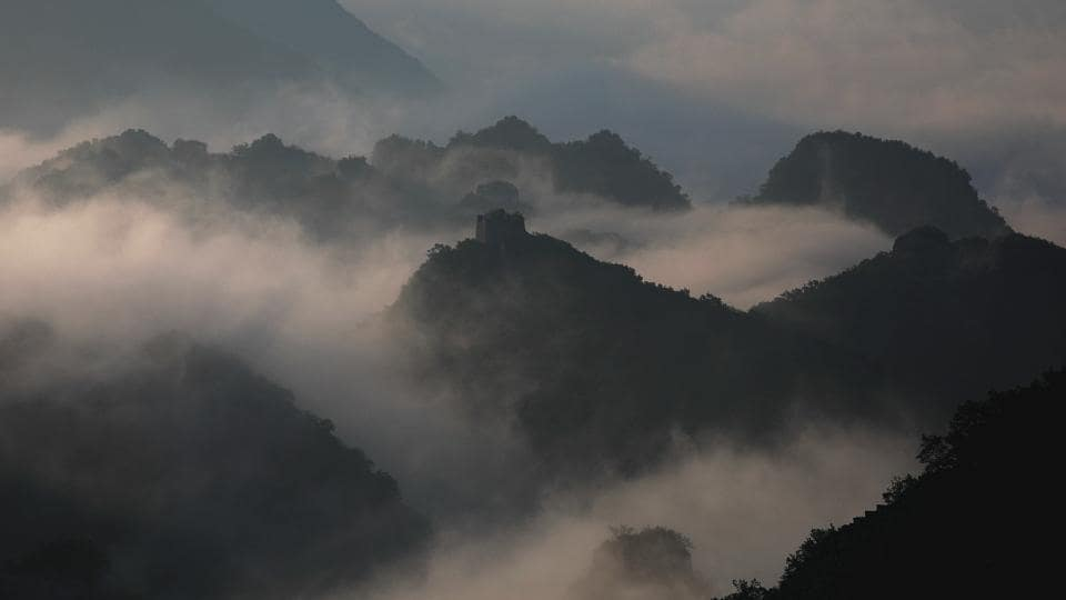 Early morning fog covers the Jiankou section of the Great Wall located in Huairou district north of Beijing. Constructed in 1368 during the period of Ming Dynasty, this section of Great Wall is a photographic hot spot.  (Damir Sagolj/REUTERS)